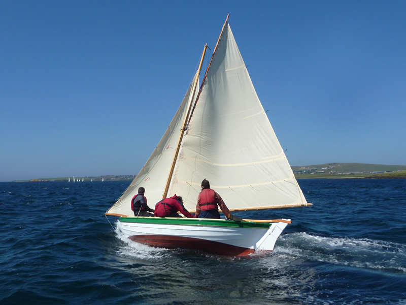 Ian Richardson, Boatbuilder. 18' Orkney Yole 2/2