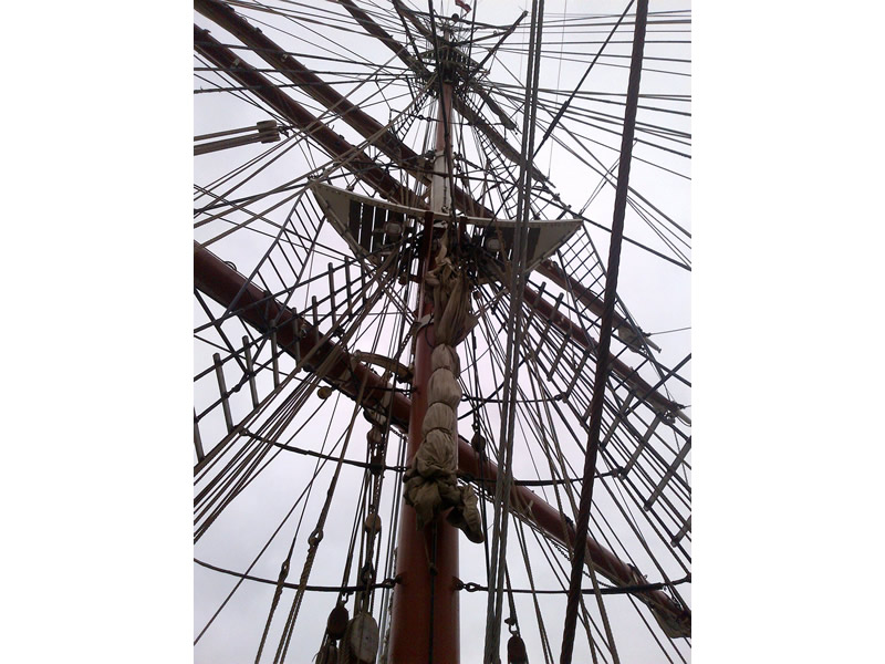 Dennis Platten, Traditional Rigging. Square Rigger