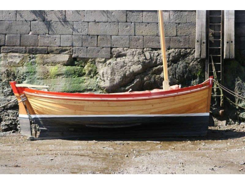 Ian Richardson, Boatbuilder. 18' Lugger