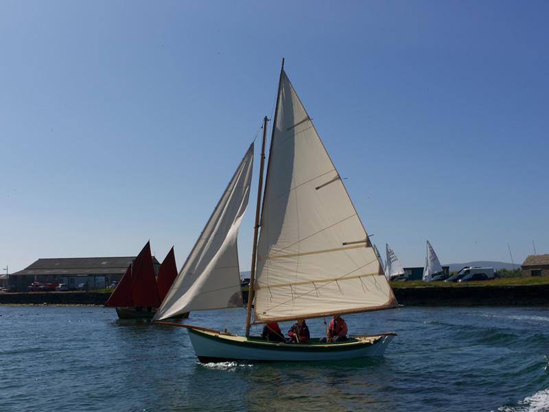 Ian Richardson, Boatbuilder. 18' Orkney Yole 1/2